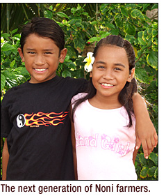 noni kids on Oahu